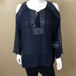 525 america Navy Blue Blouse